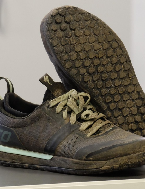 Whether you go for flat pedal shoes like these or a clipless pair, make sure you get a good fit!