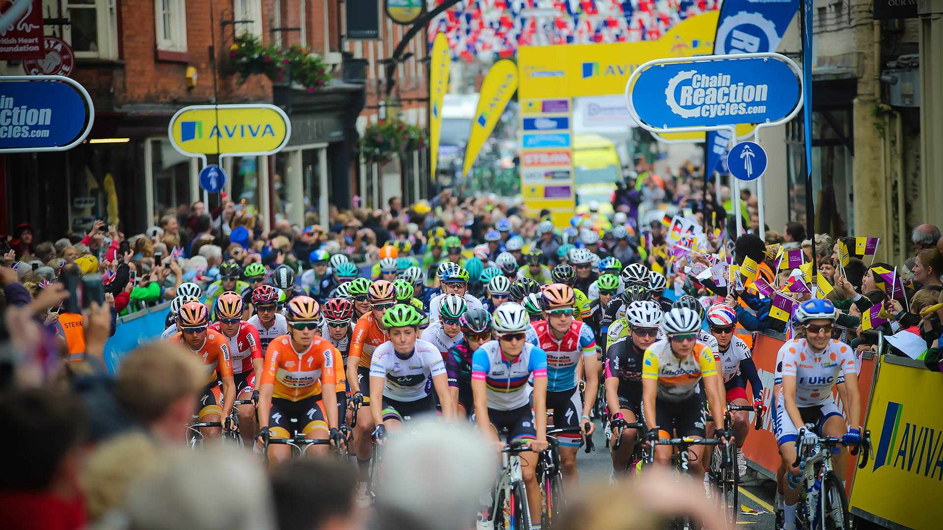 Thousands turned out for the Women's Tour stage starts and finishes, with many lining the route along the way