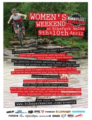 Women's Weekend at Bike Park Wales takes place on 9 and 10 April 2016