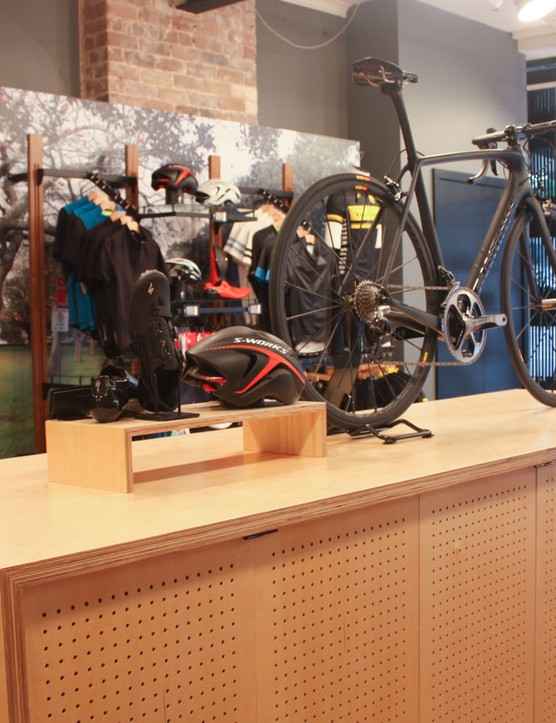Specialized has helped with the fit out – a common trend in the Australian retail scene, with the big brands stepping in to improve the consumer experience of their dealers
