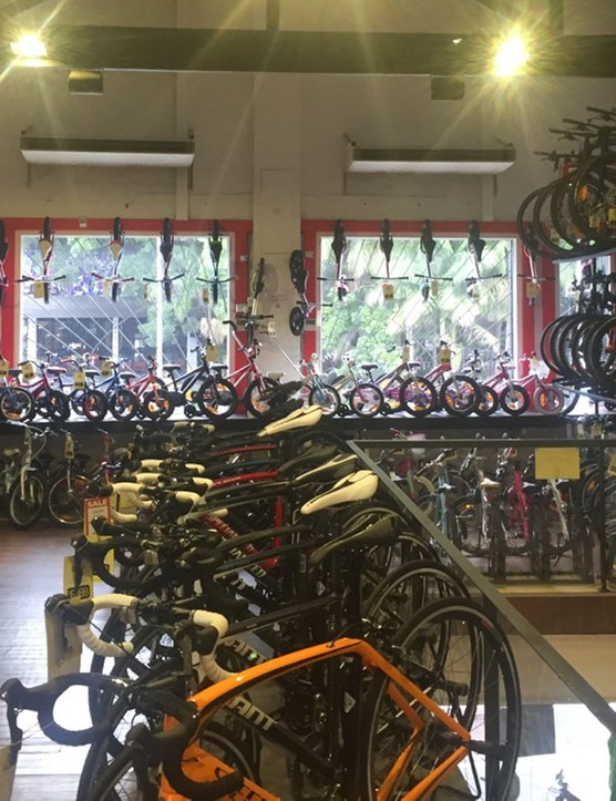 Certainly a things of the past, bikes cluttered and customers are forced to wait for help in order to see something