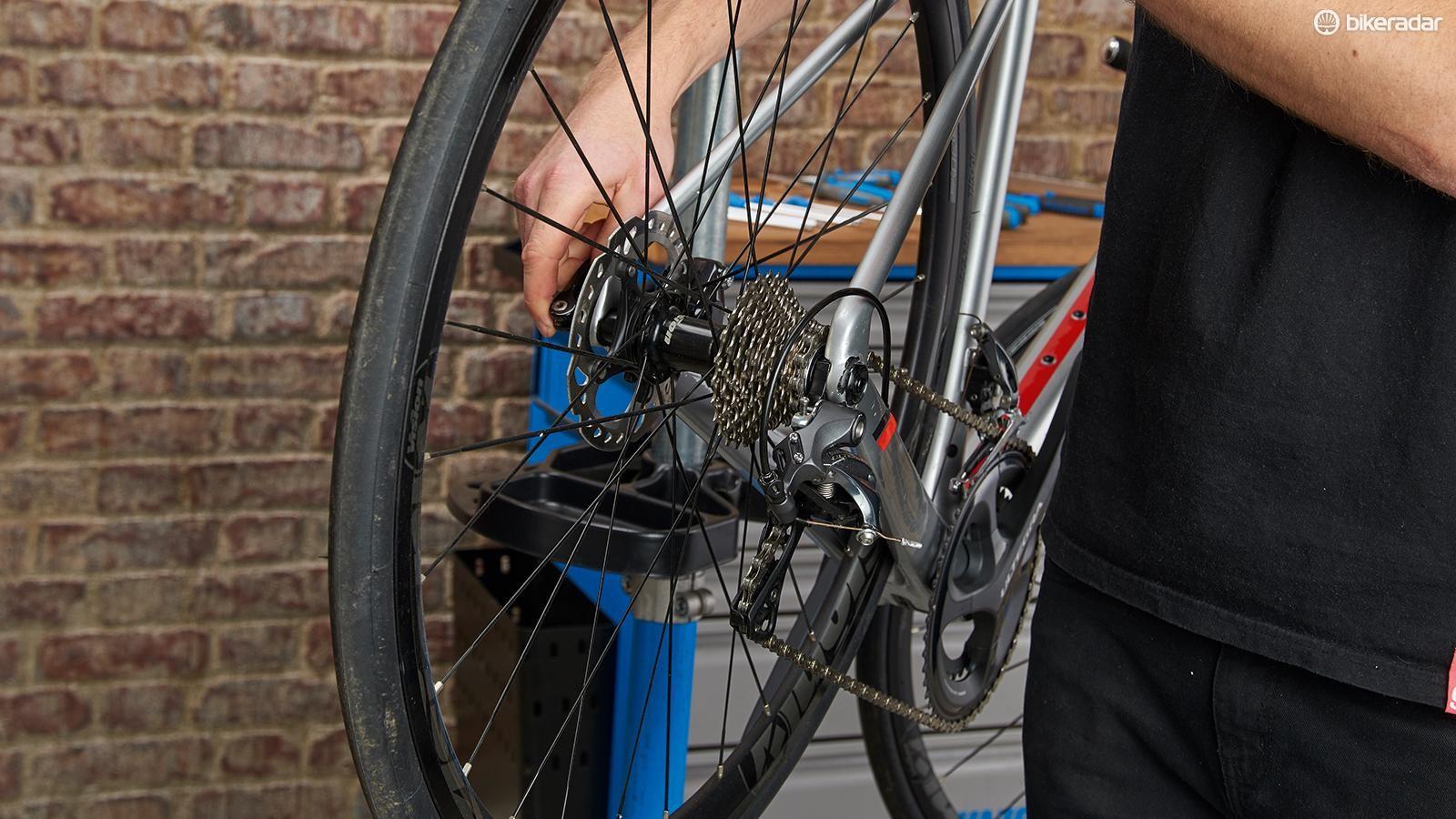 Rear wheel removal