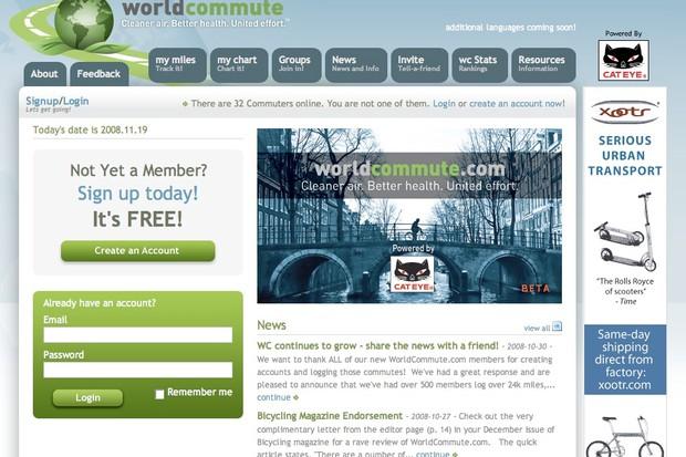 WorldCommute.com, powered by Cateye.