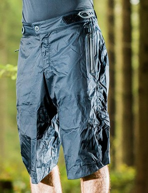 Waterproof shorts will help prevent the dreaded soggy chamois feeling