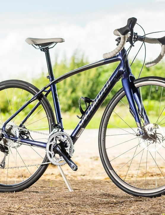 The Specialized Dolce Sport Disc women's road bike is weighty but well-mannered and confidence-inspiring