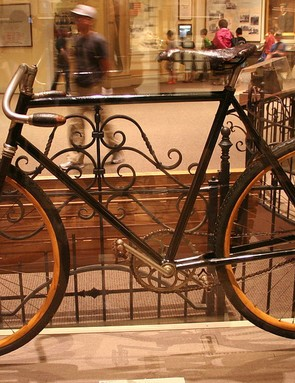 A bicycle produced by the Wright Cycle Company now resides at the National Air and Space Museum