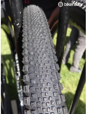 WTB also showed the Riddler, available in 37 and 45mm widths. It too is tubeless compatible and looks like a good gravel option
