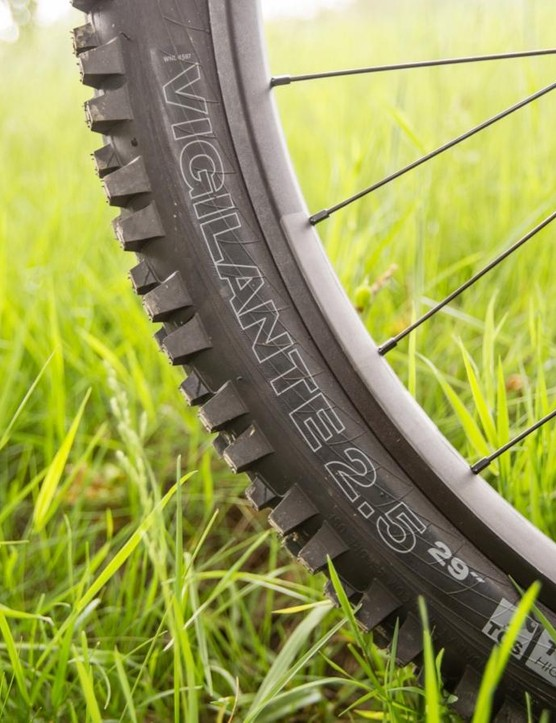 The WTB Vigilante has been tweaked to be more aggressive than ever with a taller tread, triple-compound rubber and wider widths available
