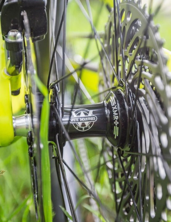WTB has teamed up with the highly revered (and also Californian) White Industries who'll provide the hubs (pictured are the XMR+ hubs) on some full wheel builds