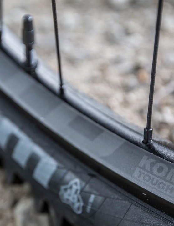 For those looking for something a little more heavy duty, WTB's KOM Tough rims, which feature its established I-Beam design, gets two additional supporting struts, which WTB says increases both strength and stiffness