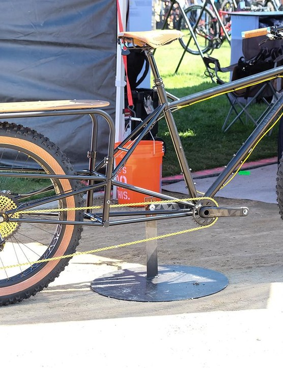 This customized Surly long tail is impressive, but take a look at all that gold chain!