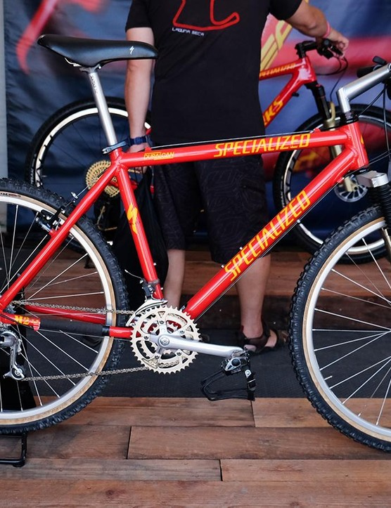 The Epic World Cup Hardtail is the latest in a long line of race bikes from Specialized, including this vintage S-Works