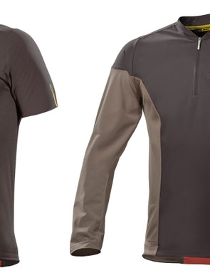 The windproof XA jerseys are available in both short and long sleeve variants