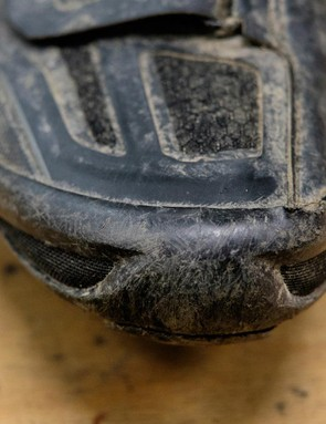 A rubber tread covers the whole outsole