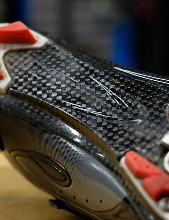 The sole tread and straps are replaceable