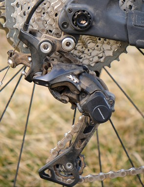 The XT rear derailleur proved precise and quite durable
