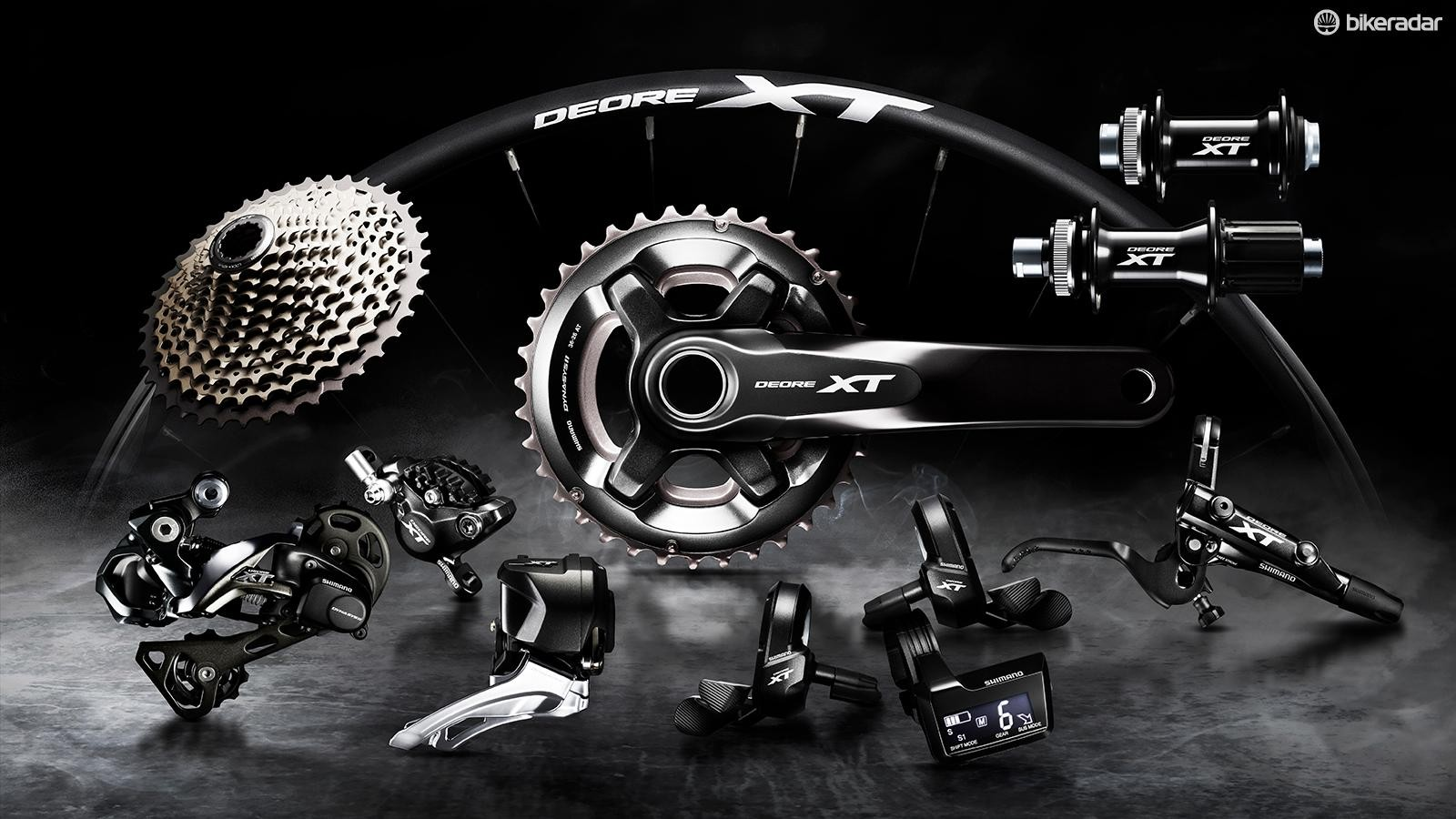 Shimano's XT level Di2 groupset brings electronic shifting to a slightly more affordable (or at least less expensive) level. Like the mechanical version XT Di2 is available in 1x and 2x versions
