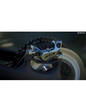 Shimano's four piston BR-M9120 brake calipers offer plenty of power