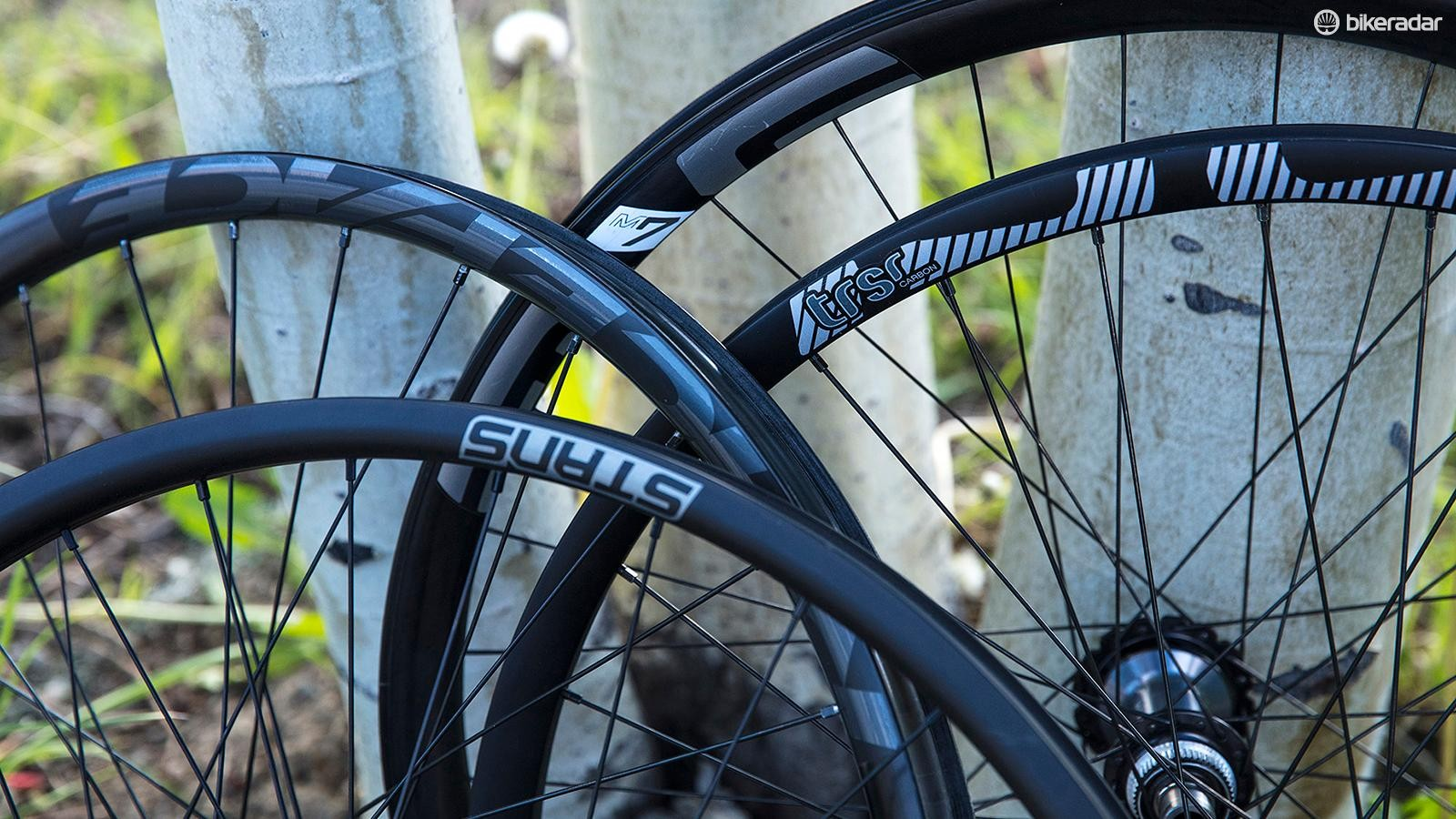 There are no XTR wheelsets with the new group, instead Shimano is partnering with existing rim manufacturers