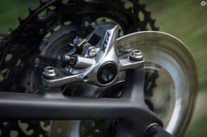 The BR-M9100 XC brakes offer more consistent modulation than the previous version