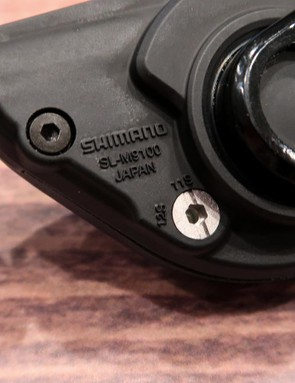 The rear XTR shifter can be swapped between 11- and 12-speed operation with an Allen key