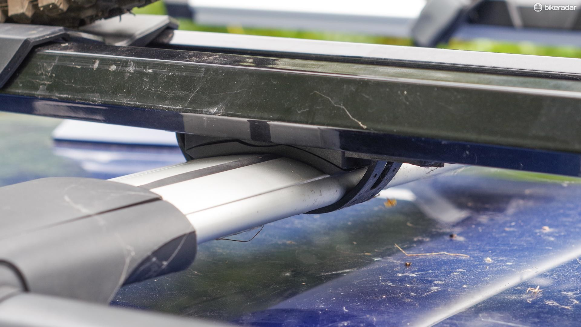 The strap attachments work with any roof bars