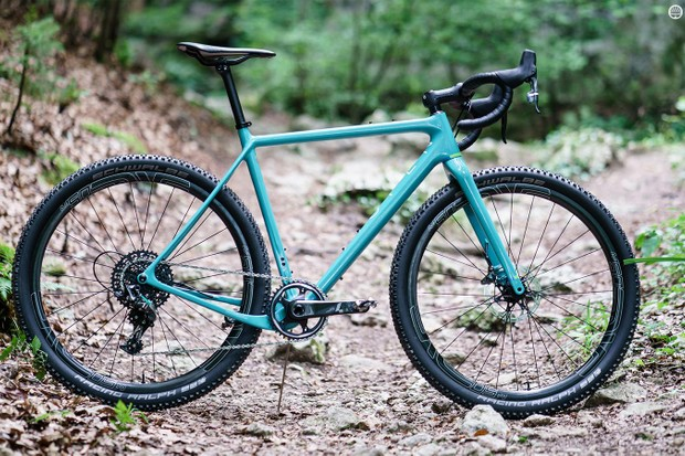 Yeti and Open have collaborated on a distinctive turquoise U.P. gravel bike