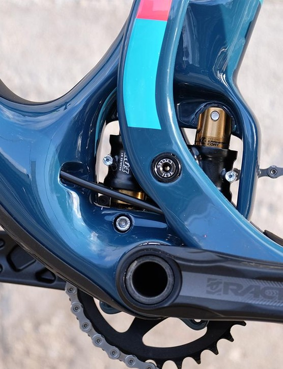 A close-up of the rails on the Switch Inifinity suspension system