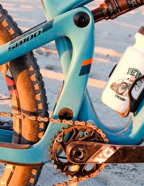 Your eyes do not deceive you: that's a water bottle inside a Yeti frame
