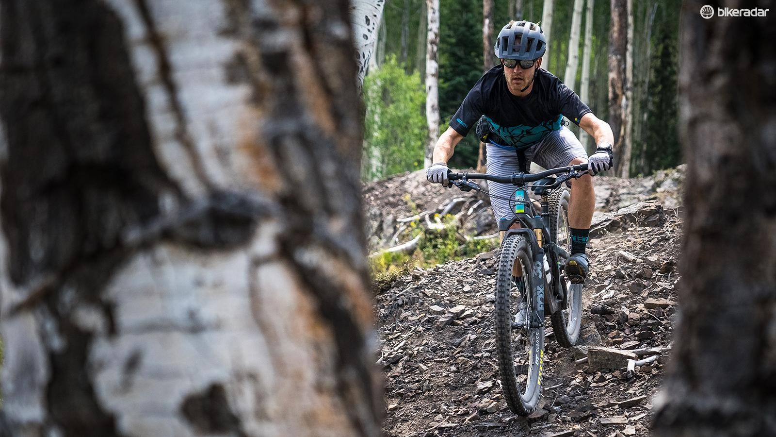 The SB130 is hard to pigeonhole – it's as at home on all day epics as it is in the bike park