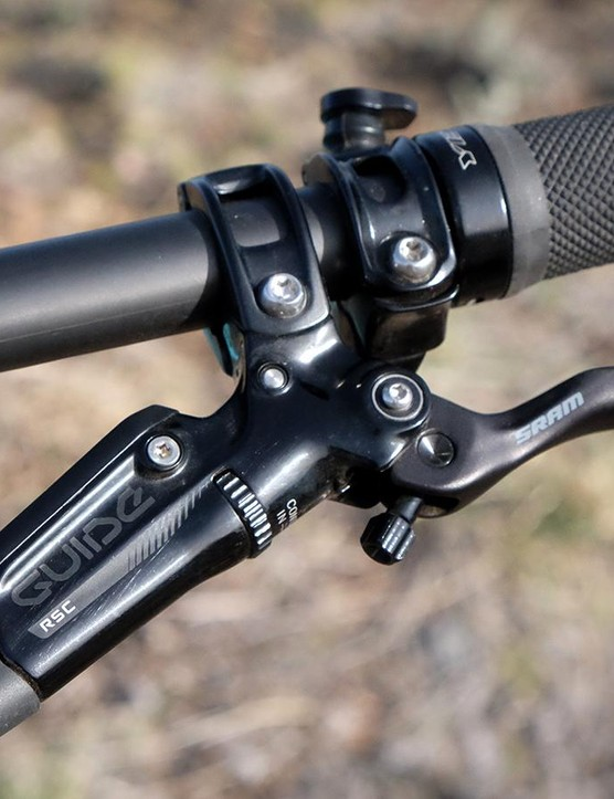 SRAM's Guide RSC brakes with 180mm rotors are good match for this bike's capabilities