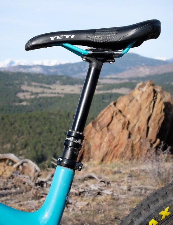 The relatively tall seatmast may prevent some riders from running 150mm dropper seatposts