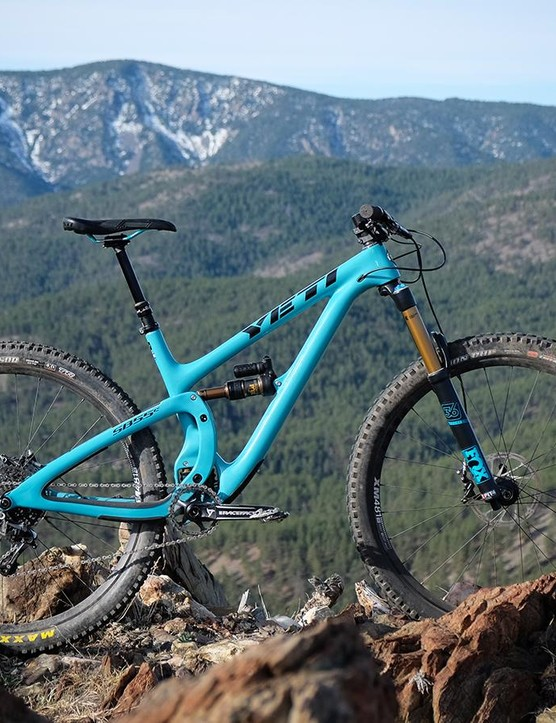The new Yeti SB5.5c has 140mm of travel paired with a 160mm suspension fork