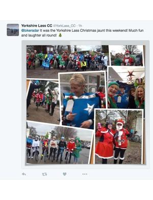 Yorkshire Lass CC had their Christmas bike ride