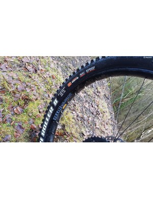 You'll get full-plus volume 2.8in rubber in the form of Maxxis High Roller II tyres, if you wish