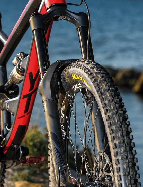 Stiff, supple and supportive, RockShox's Lyrik fork is found on five of our final six