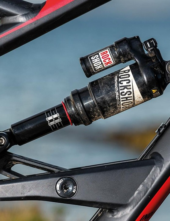 The Monarch Plus piggyback shock is a capable performer too