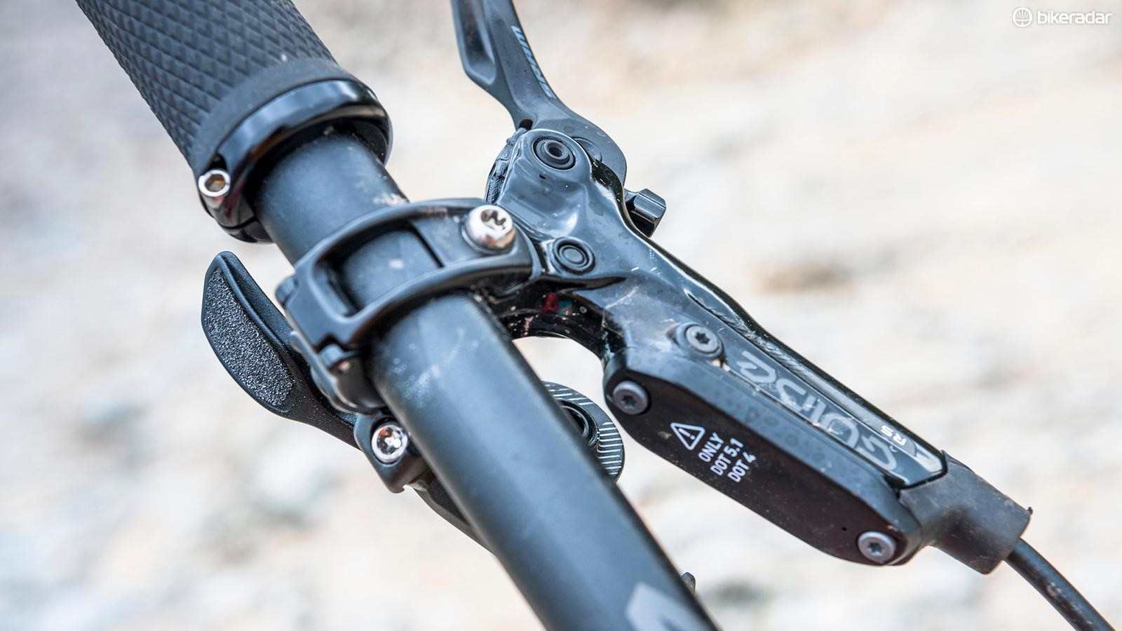 SRAM's Guide brake family is by far the most commonly seen on trail bikes this year