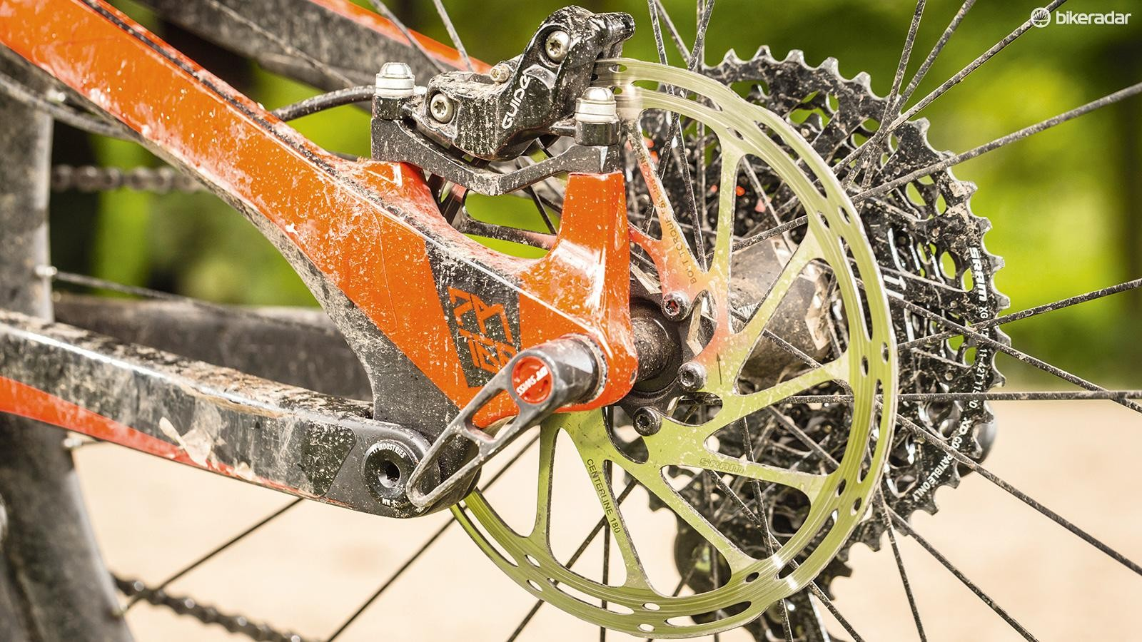 SRAM's Guide Ultimate brakes offer plenty of stopping power
