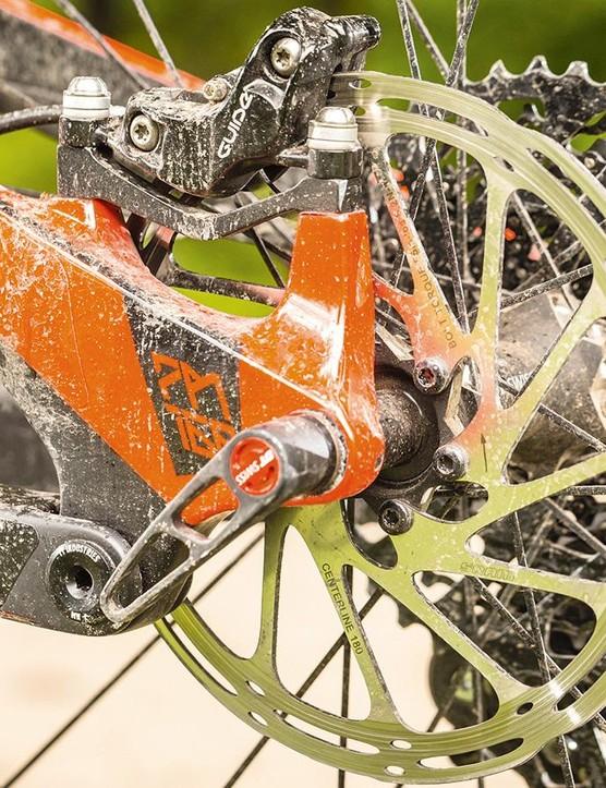 SRAM's Guide Ultimate brakes offer plenty of stopping power