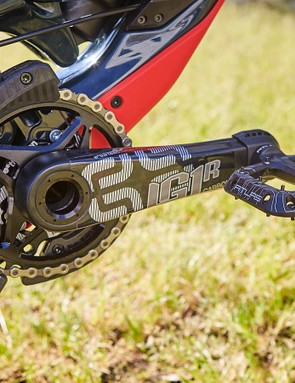 e*thirteen components feature heavily on the new bikes, taking care of the crankset, cassette, chainguide and wheelsets