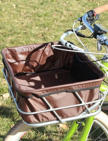 The optional front basket adds huge capacity, and the spring-loaded fork helps balance the load