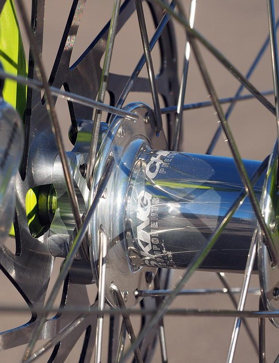 Chris King ISO Disc hubs were used front and rear, not just for their look but also for the bombproof RingDrive freehub mechanism