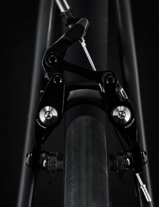 The Domane SLR's calipers are adjustable for tire width