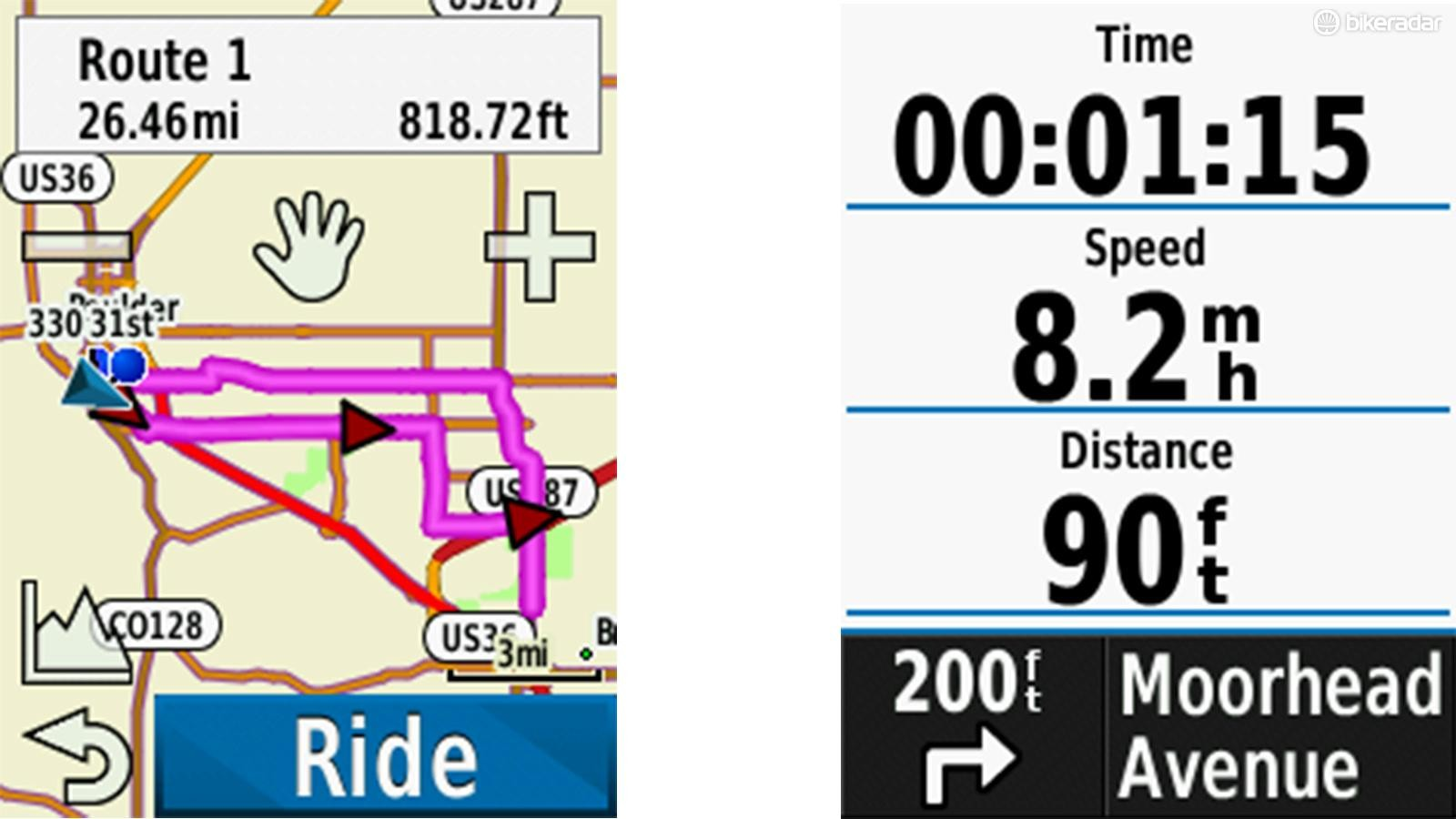You can have the Course Creator give you options for different lengths routes. I'm not impressed with that, but I am impressed with how the unit gives you instructions from any page while you're riding