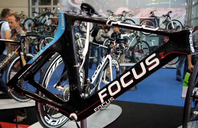 The Focus Izalco Chronoin Team Milram livery - a bit cheeky as Colnago still has almost four months left in its deal with the German team.