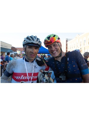 Misery loves company. After flatting together at mile 20, Chris and I spent some quality time together in Kansas