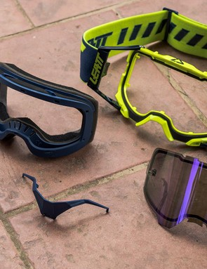 The composite parts of Leatt's new Velocity goggles