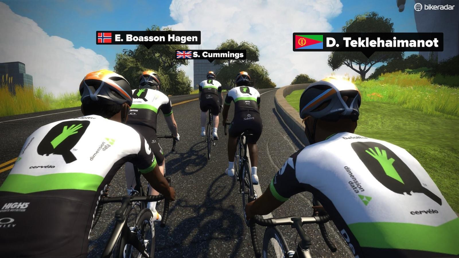 Team Dimension Data professional riders use the platform in conjunction with their traditional training methods