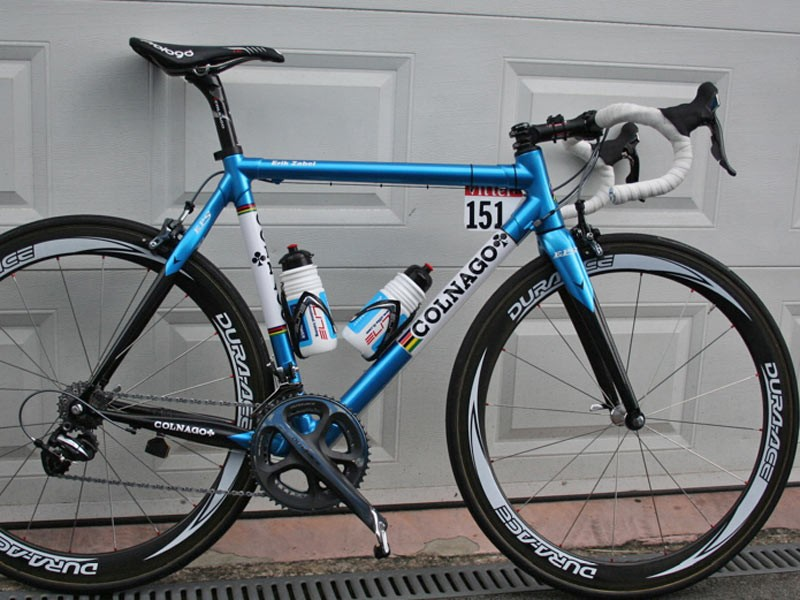 As Milram team captain, Erik Zabel has himself a new Colnago Extreme Power Super.